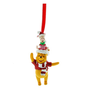 disney parks christmas glitter winnie the pooh and piglet ornament new with tag