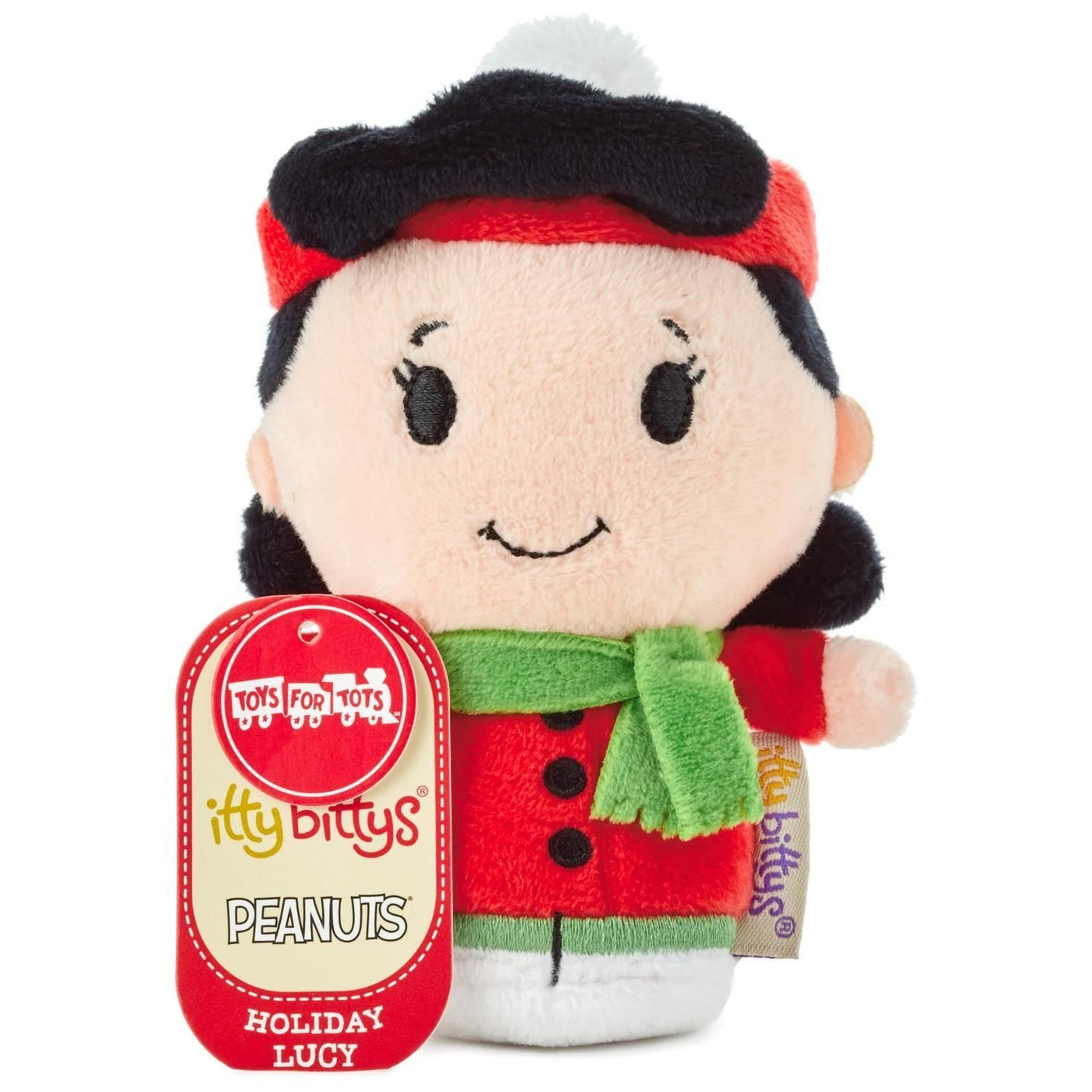 Hallmark Christmas Holiday Peanuts Lucy Itty Bittys Plush New With