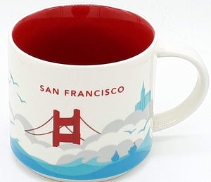 Starbucks You Are Here San Francisco California Ceramic Coffee Mug New with Box