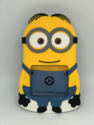 "universal studios despicable me minion 2.5""x 3"" photo picture frame new"