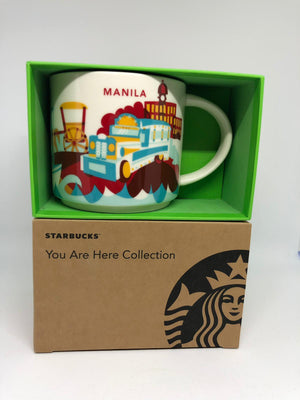Starbucks You Are Here Collection Manila Ceramic Coffee Mug New with Box