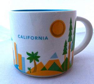 Starbucks You Are Here California Ceramic Coffee Mug New with Box