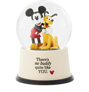 Hallmark Disney Mickey and Pluto There's No Buddy Quite Like You Snow Globe New