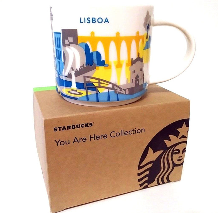 Starbucks You Are Here Collection Lisboa Ceramic Coffee Mug New with Box