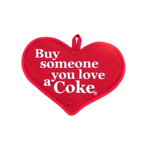 Authentic Coca-Cola Coke Heart Pot Holder Buy Someone You Love a Coke New w Tag