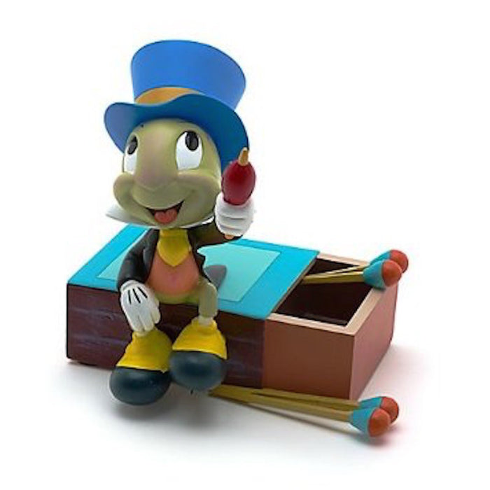 disney parks pinocchio's jiminy cricket on matchbox figurine statue new