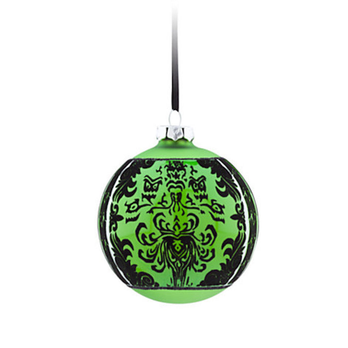 disney parks haunted mansion green glass ball christmas ornament new with tag