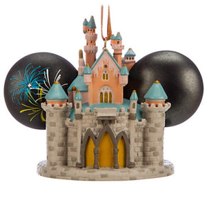 disney disneyland sleeping beauty castle light up ear hat ornament new with tag - I Love Characters
