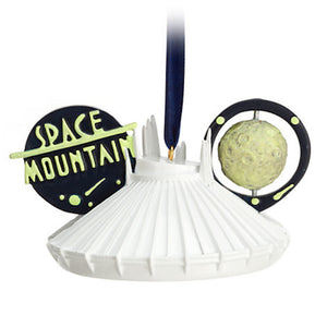 disney parks tomorrowland space mountain christmas ear hat ornament new with tag