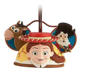 disney park toy story jessie resin ear hat christmas ornament new with tag