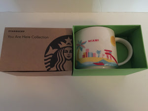 Starbucks You Are Here Miami Ceramic Coffee Mug