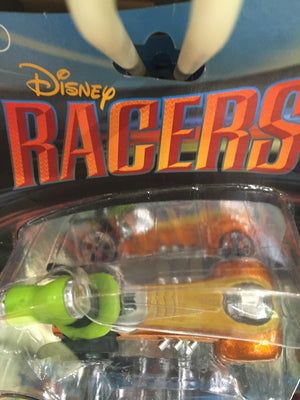disney parks racers die cast metal goofy car new with box