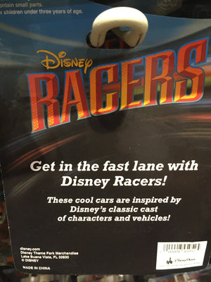 disney parks racers die cast metal body 1/64 scale car stitch new with box