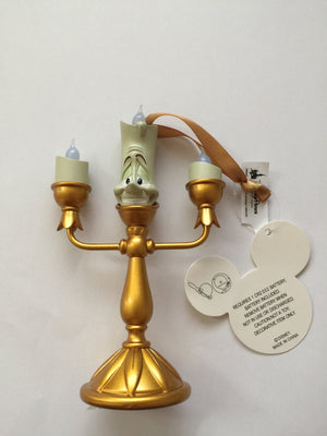 disney parks mini lumiere candelabra light up christmas ornament new with tags