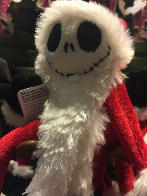 "disney parks 11"" santa claus jack skellington plush new with tags"