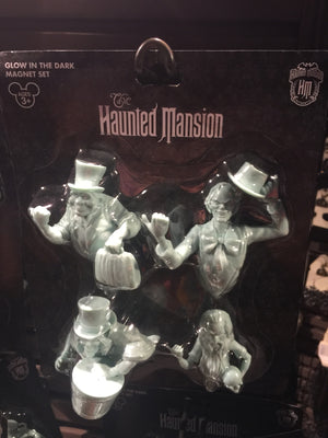 disney parks magnet set haunted mansion glow in the dark ghosts new with card