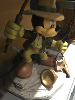 Disney Medium Figure Statue Mickey Mouse As Indiana Jones Figurine New With Box