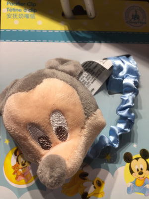 disney parks baby mickey mouse pacifier clip plush new with card