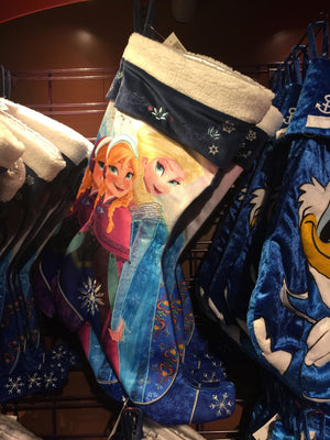 disney parks christmas holiday stocking frozen princess anna elsa boot new tags