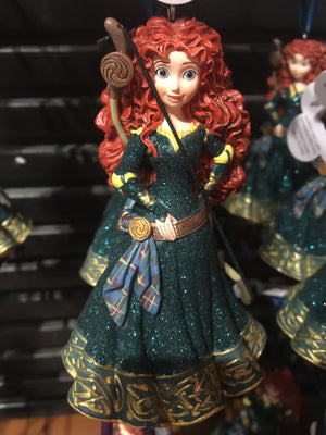 disney parks princess merida brave glitter resin christmas ornament new with tag