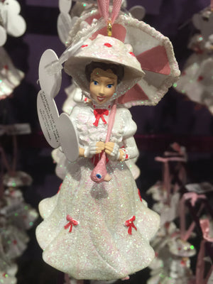 disney parks figurine ornament  mary poppins pink parasol new with tags
