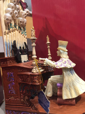 disney  jim shore Traditions figure haunted mansion organ player glows new w box