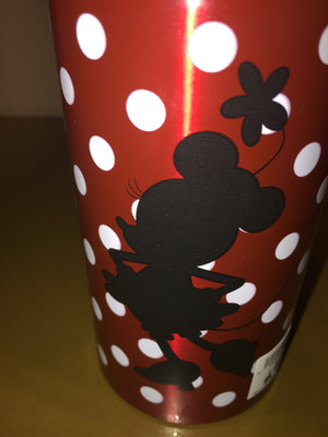 disney parks minnie mouse polka dot aluminum water bottle new with tags