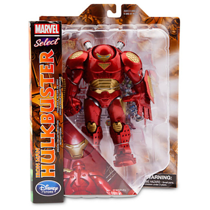 "disney store marvel select hulkbuster iron man action figure 8"" new with box"