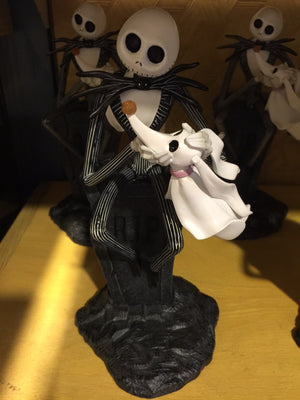 disney parks jack skellington nad zero light-up small resin figurine new with tags