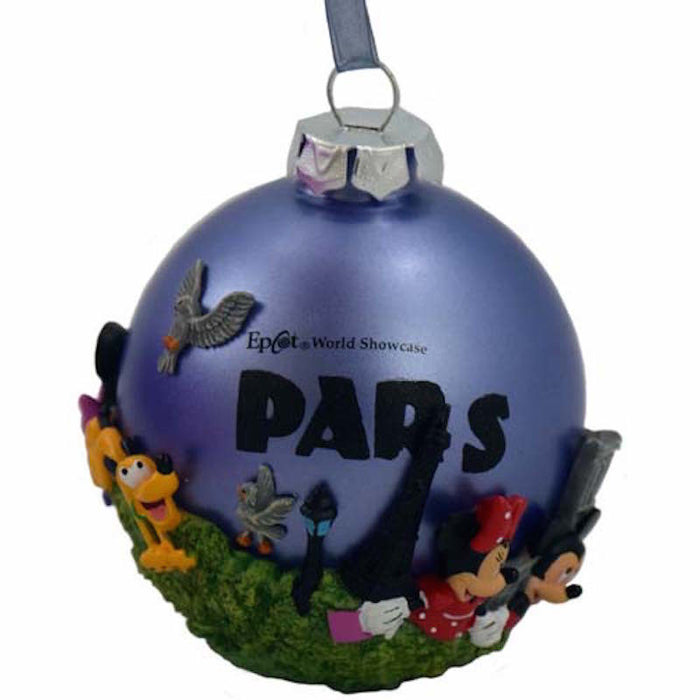 disney parks paris france epcot mickey friends christmas ball ornament new with tags