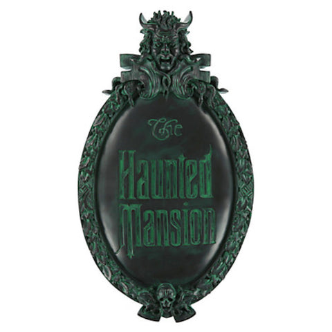 disney Parks the haunted mansion wall sign plaque sign marquee replica