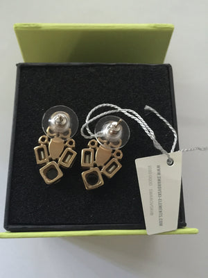 swarovski elements paradisia earrings yellow gold plated made in uk new with box