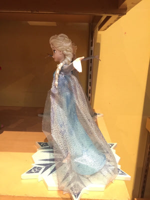disney parks authentic frozen elsa glitter accents figurine new