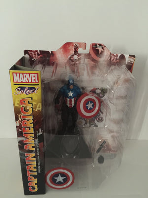 Disney Store Captain America Action Figure Marvel Select 7'' New With Box