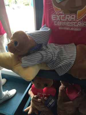 "universal studios 21"" E.T. bed time with pillow plush toy new with tags"