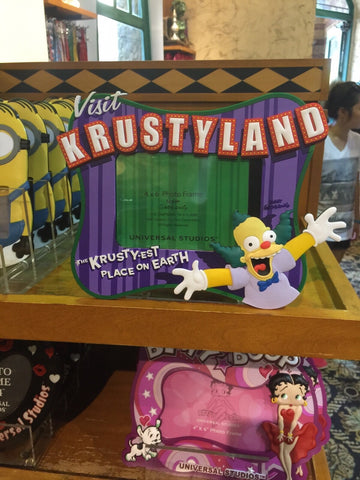 "universal studios krustyland the simpsons 6""x 4"" photo picture frame new"