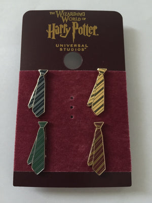 Universal Studios Wizarding World of Harry Potter Mini Tie Pin Set New with Card