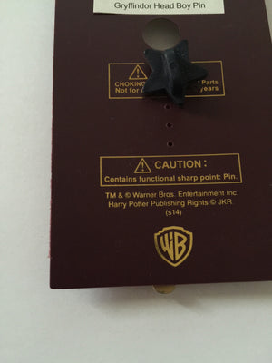 Universal Studios Harry Potter Gryffindor Head Boy Pin New with Card
