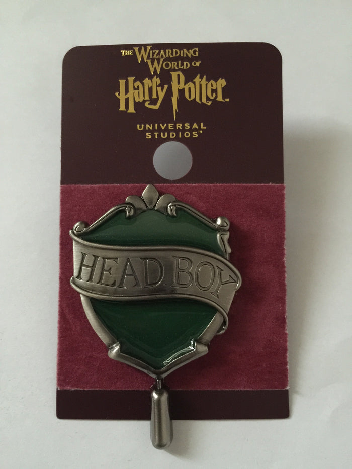 Universal Studios Harry Potter Slytherin Head Boy Pin New with Card