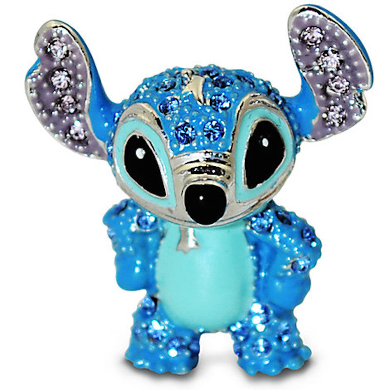 Disney Parks Stitch Figurine By Arribas Swarovski Jeweled