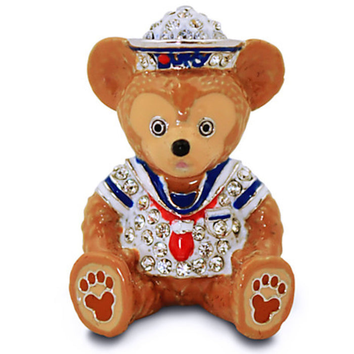Disney Parks Duffy Figurine by Arribas Swarovski Jeweled Mini New with Box