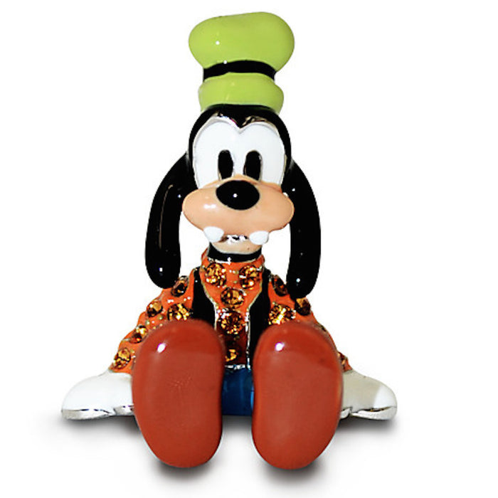 Disney Parks Goofy Figurine by Arribas Swarovski Jeweled Mini New with Box