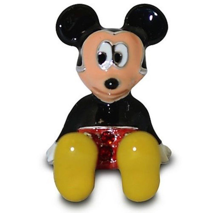 Disney Parks Mickey Figurine by Arribas Swarovski Jeweled Mini New with Box