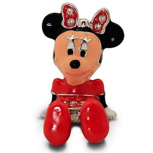 Disney Parks Minnie Figurine by Arribas Swarovski Jeweled Mini New with Box