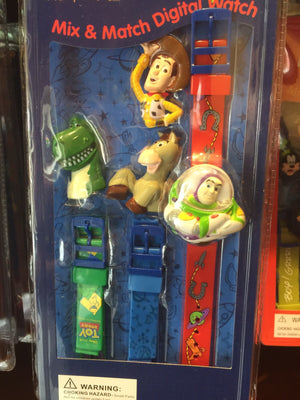 disney parks toy story interchangeable digital mix & match watch new with box