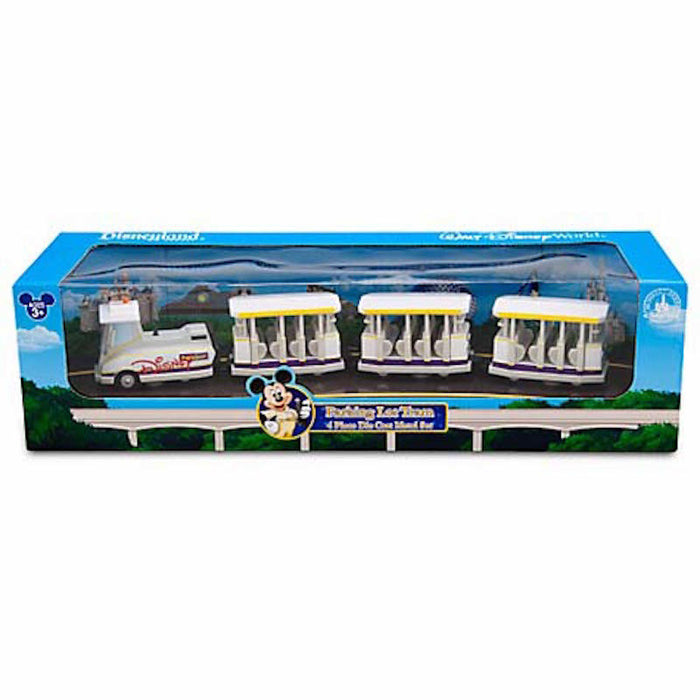 disney parks die cast car parking lot tram playset new with box