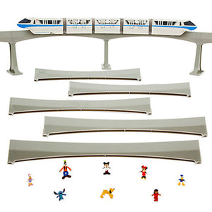 disney parks mickey & friends monorail blue train playset new with box