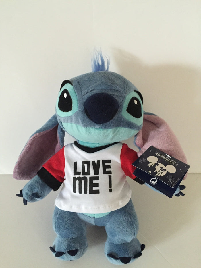 disney parks disneyland paris stitch with love me t-shirt plush toy new with tags