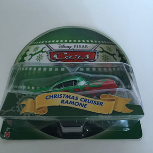 disney parks pixar cars christmas cruiser ramone die cast metal new with box