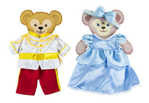 disney parks cinderella & prince charming costume for duffy & Shellie May new box